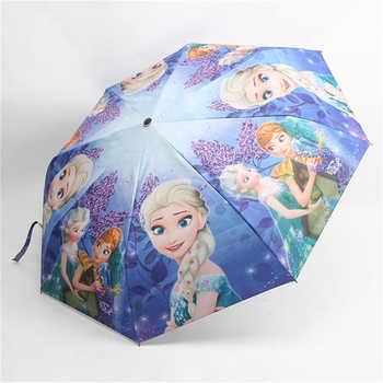 Disney Cartoon Umbrella Frozen Elsa Ann Mickey Minnie Mouse TriFold Umbrella Student Boy Girl Adult Sunscreen Kids Umbrella Gift - DISCOUNT ITEM  20% OFF All Category