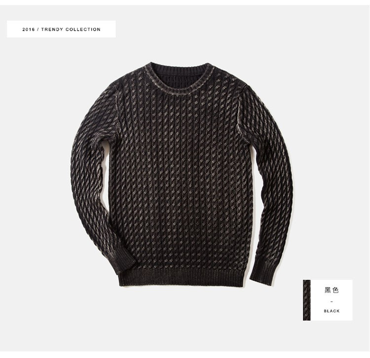 Aolamegs Men Sweater Fashion Casual Solid Color Knitting Pullover 2016 Autumn High Quality Simple Wild O-Neck Knitted Sweaters (16)