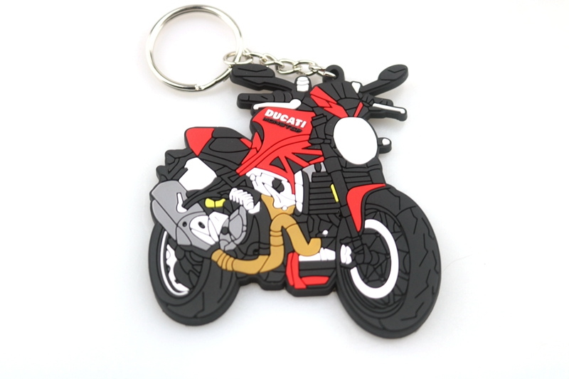 3D Motorcycle Accessories Motorcycle KeyChain Rubber Motorcycle Key Chain For DUCATI Monster 1200R 797 model rubing matching motorcycle accessories gn250 did9 timing chain in pieces