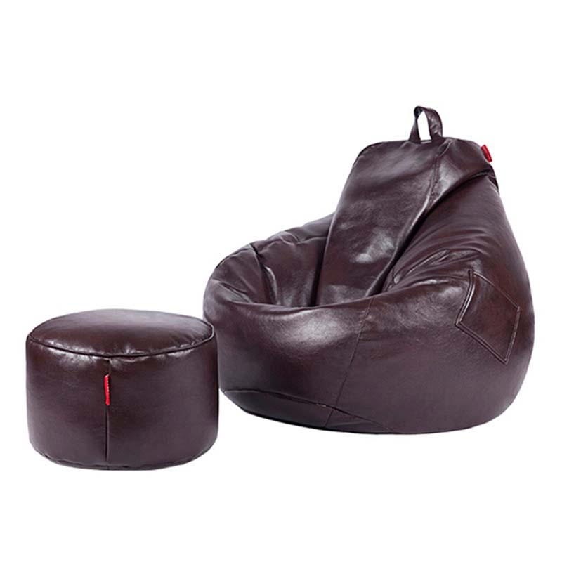 Chpermore PU Leather Bean Bag Lazy Sofa Comfortable Living Room Leisure Bean Bag Sofa Tatami Multifunction Chair Stools Ottoman