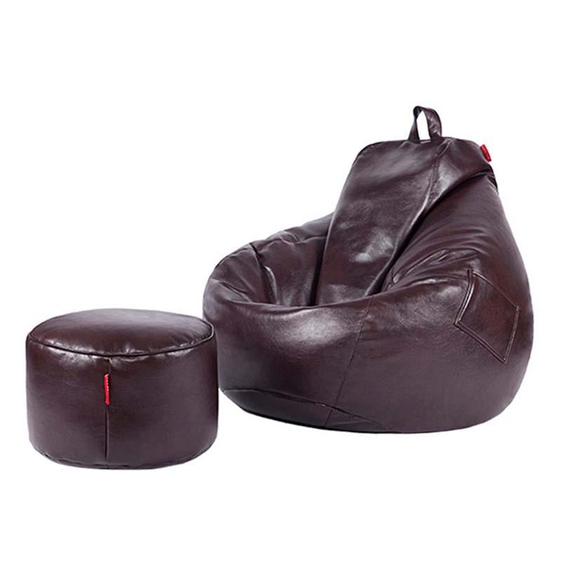 Chpermore PU cuir haricot sac paresseux canapé confortable salon loisirs haricot sac canapé tatami multifonction chaise tabourets pouf