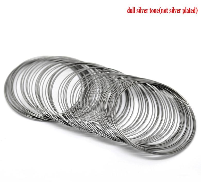 DoreenBeads Steel Wire Memory Beading Bracelets Components Round Gunmetal 5cm-5.5cm Dia, 40 Loops 2015 newDoreenBeads Steel Wire Memory Beading Bracelets Components Round Gunmetal 5cm-5.5cm Dia, 40 Loops 2015 new