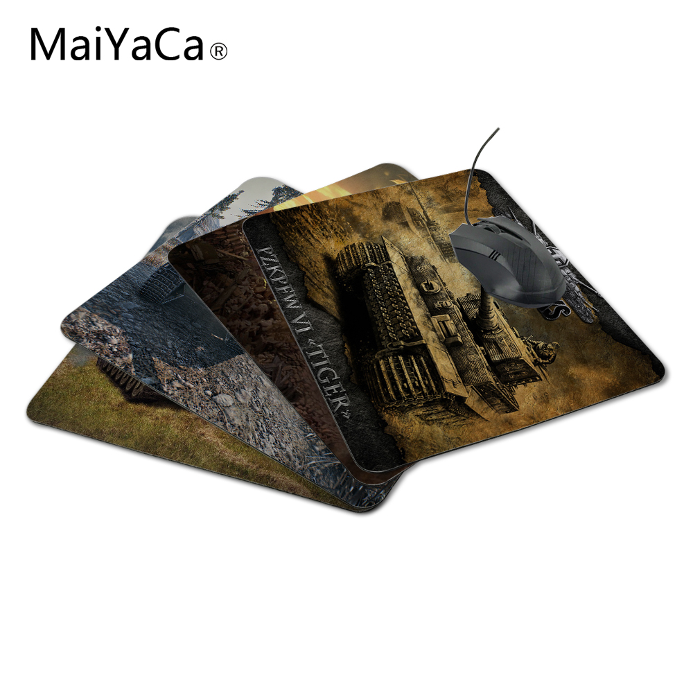 MaiYaCa Wholesale Luxury Print World of Tanks Logo Game Gaming Durable PC Anti-slip Mouse Mat for Optical/Trackball Mouse