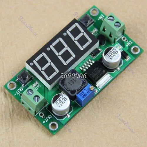 DC-DC LM2596 Voltage Regulator + Led Voltmeter Buck Step Down Converter Module