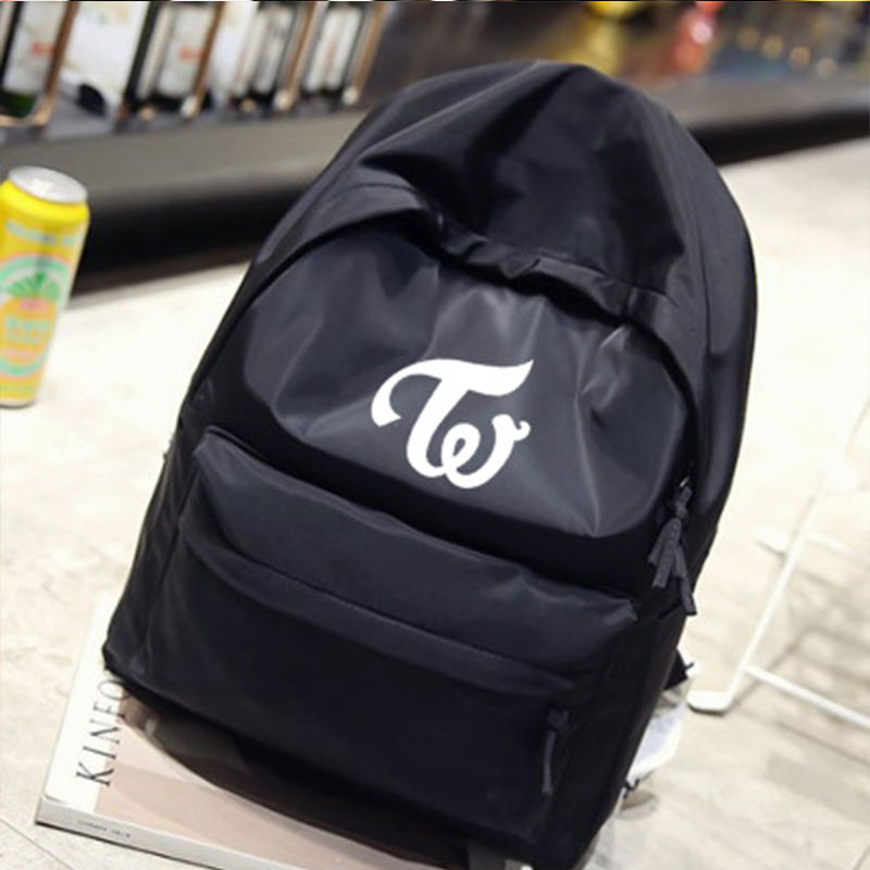 Backpack Teenagers Travel Fancy College-Style Big-Capacity Album LX194 Twice-Logo-Printing
