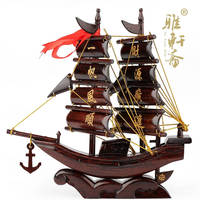Rosewood Dragon Boat Sailing Craft Ornaments High Grade Commercial Office Everything Is Going Smoothly Opening Housewarming