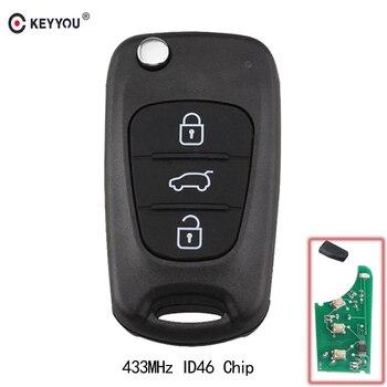 Chiave Telecomando per Kia Rio Ceed CeedPro Picanto 2004-2011 433Mhz ID46 3 tasti