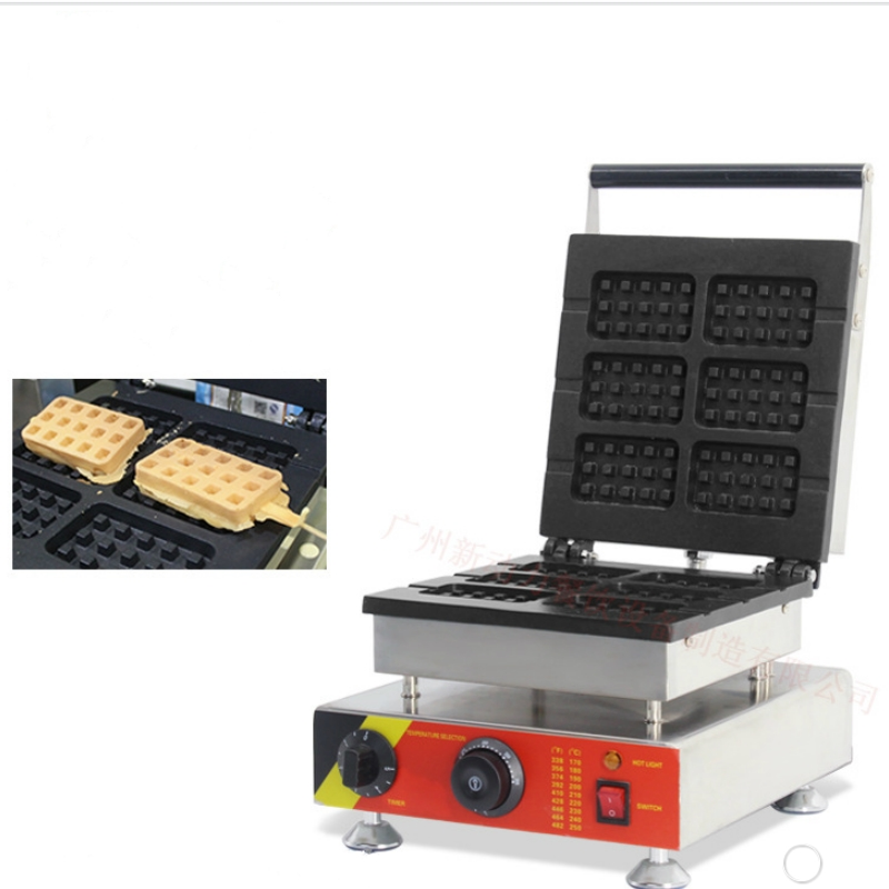 2018  new 6pcs 110v 220v Electric Commercial Chocolate Cream Waffle on a stick Maker Iron Machine Baker luggage 2pcs set 14 inch and 20 22 24 26 inch box rolling suitcase universal wheel travel box password girl luggage bags trunk