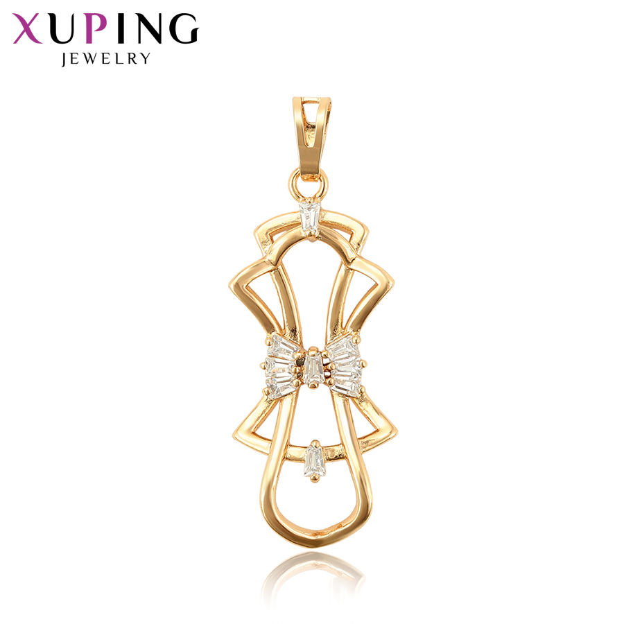 11.11 Deals Xuping Romantic Bow Tie Style Pendant High Quality Elegant Jewelry for Women ...