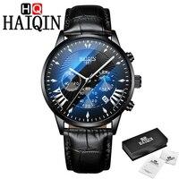 HAIQIN мужские часы Лидирующий бренд Роскошные спортивные часы мужские кварцевые наручные мужские часы Mliltary водонепроницаемые часы Relogio Masculino...
