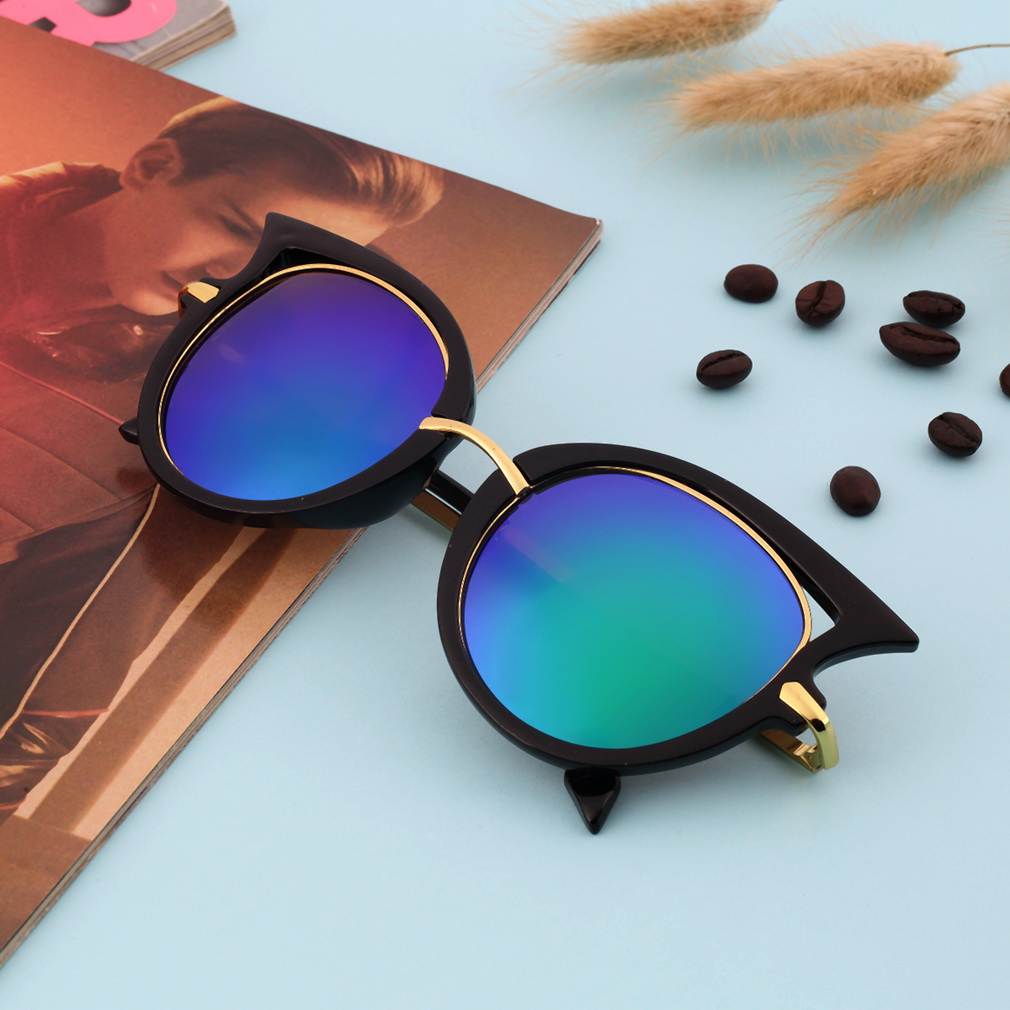 2018 New Fashion Brand Designer Cat Eye Women Sunglasses Female Gradient Points Sun Glasses Holiday Gift Oculos feminino de sol