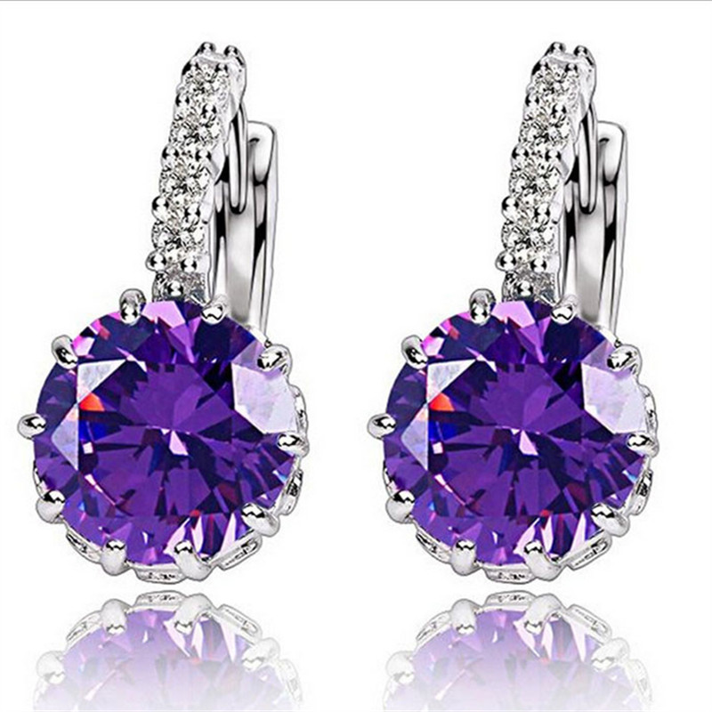MISANANRYNE Silver-color CZ Zircon Drop Earring