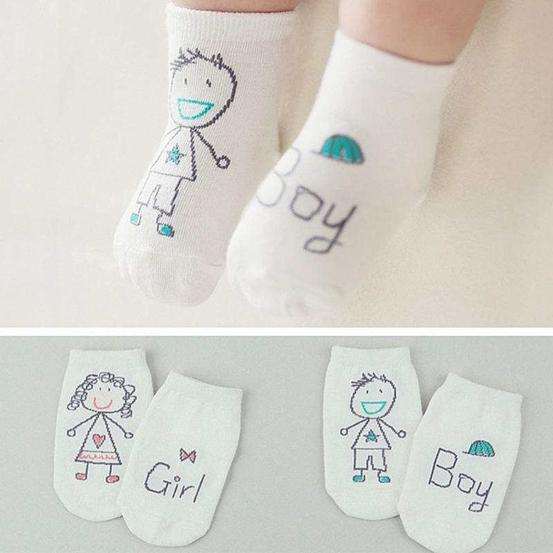 Cute Spring Autumn Baby Socks Newborn Cotton Baby Boys Girls Toddler Asymmetry Anti-Slip Baby Socks Winter