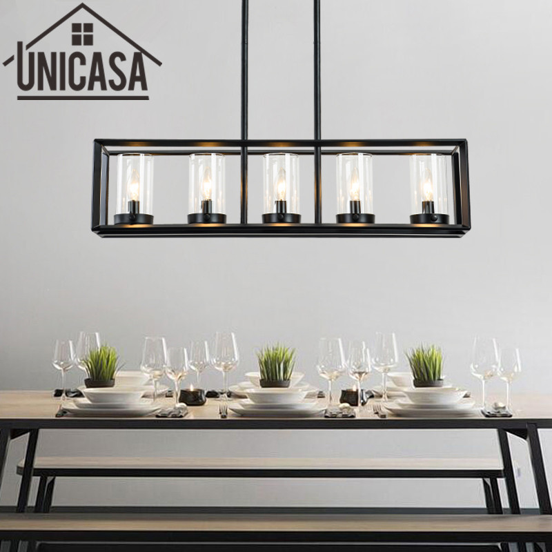 Large Bar Light Vintage Country Ceiling Lamp Kitchen Island Pendant Lights Antique Wrought Iron Industrial Lighting Office