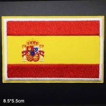Испанский национальный флаг, Железный на США, США, Германии, России, Великобритании, Национальный флаг, новинка, вышитые нашивки для одежды