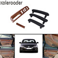 5x Black Interior Door Pull Handle + Window Control Panel Wood Color For VW Passat B5 1998-2005 / !
