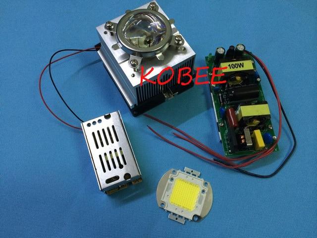 Diy Led Light Kit 100w High Power Led 100w Led Driver Heatsink With