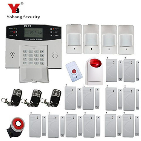 YobangSecurity Wireless GSM Home Alarm System Door Alarm Sensor PIR Detector Wireless Strobe Siren Spanish Russian Cezch Voice yobangsecurity home wifi wireless gsm security alarm system outdoor solar pir motion sensor wireless siren smoke detector