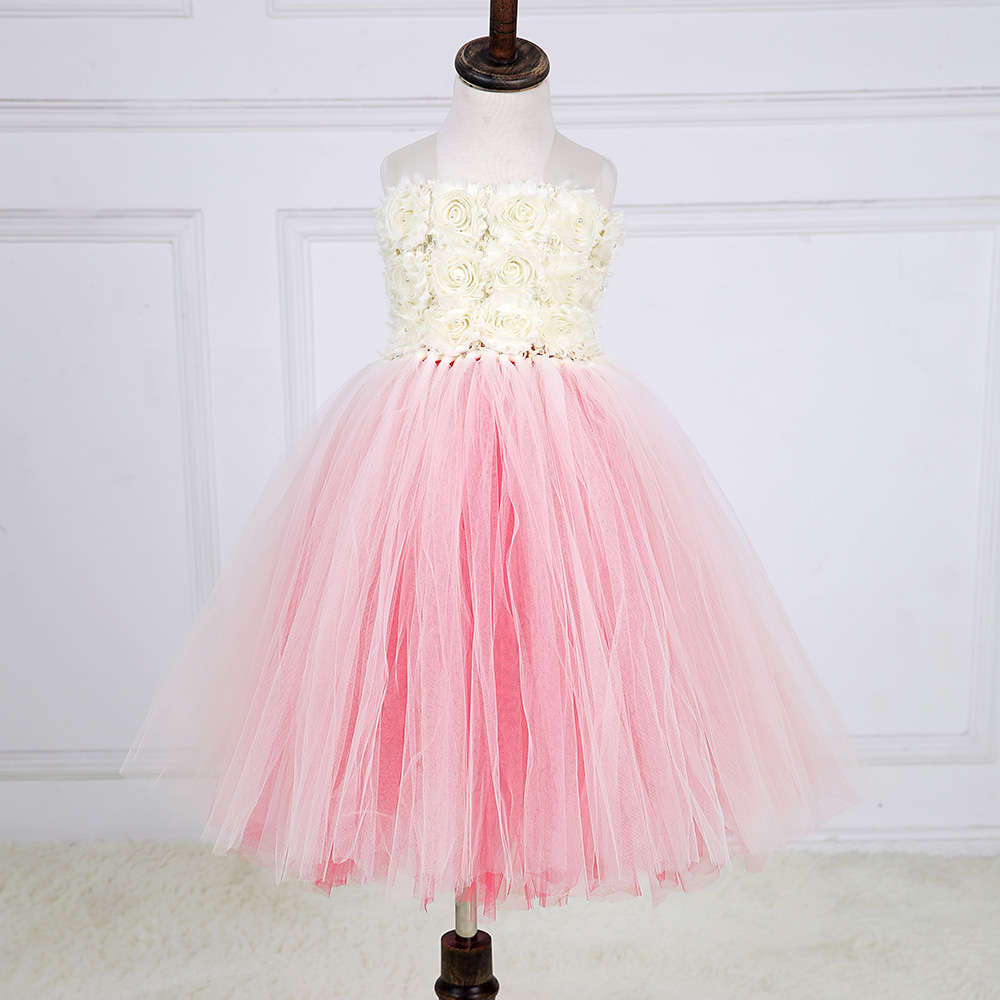 Hot Sale Flush Flower Girl Wedding Party Tutu Dress Child Fluffy Ball Gown Formal Flowers Pageant Dresses Size 2-10 years