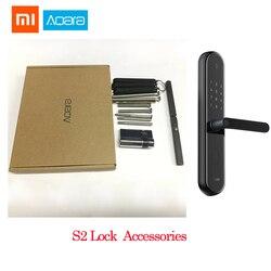 Аксессуары для Xiaomi Mijia Aqara S2, дверной замок с отпечатком пальца, сенсорный экран, замок без ключа для умного дома, управление приложением с ви...