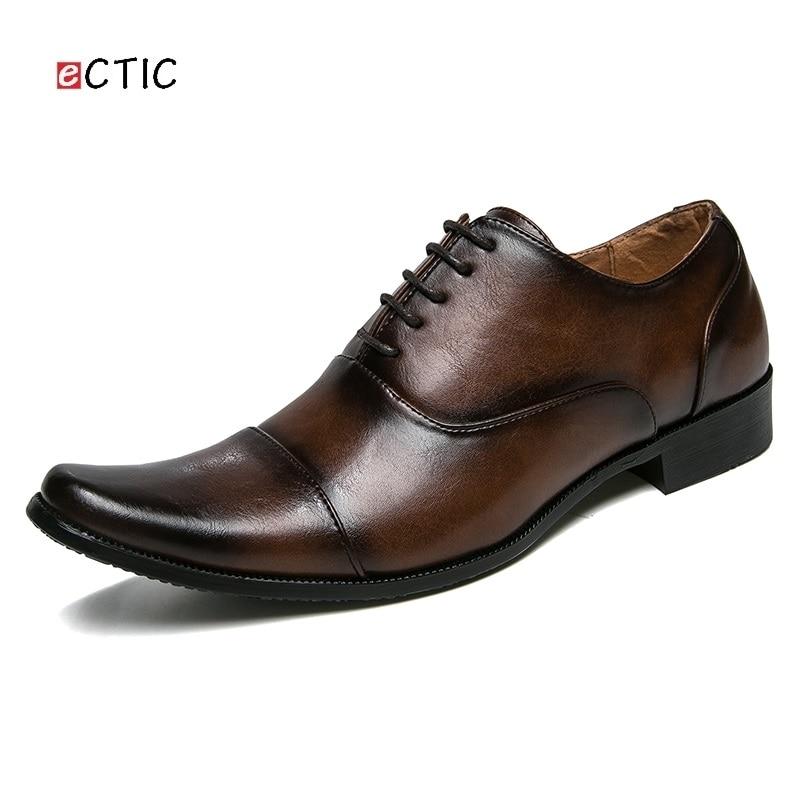 Luxe Urban Beau D'affaires Pointu Nouvelle Bout Mariage De Gentleman Calcados marron Noir Hommes Robe Arrivée Vintage En Chaussures Cuir wtnZqEZCP