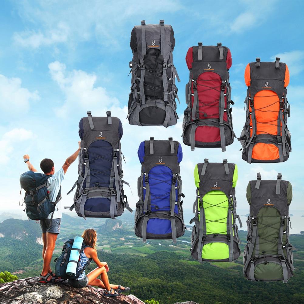 60L Outdoor Travel Backpack Waterproof Adjustable Staps Rucksack Backpacks Sports Bag Nylon Oxford Climbing Bag