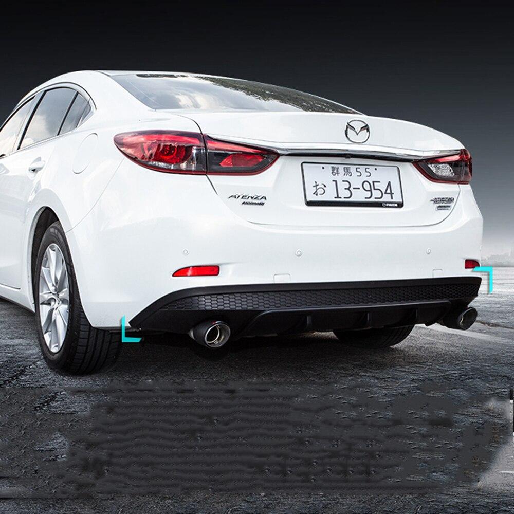 MONTFORD For Mazda 6 M6 Atenza 2014 2019 ABS Plastic Black