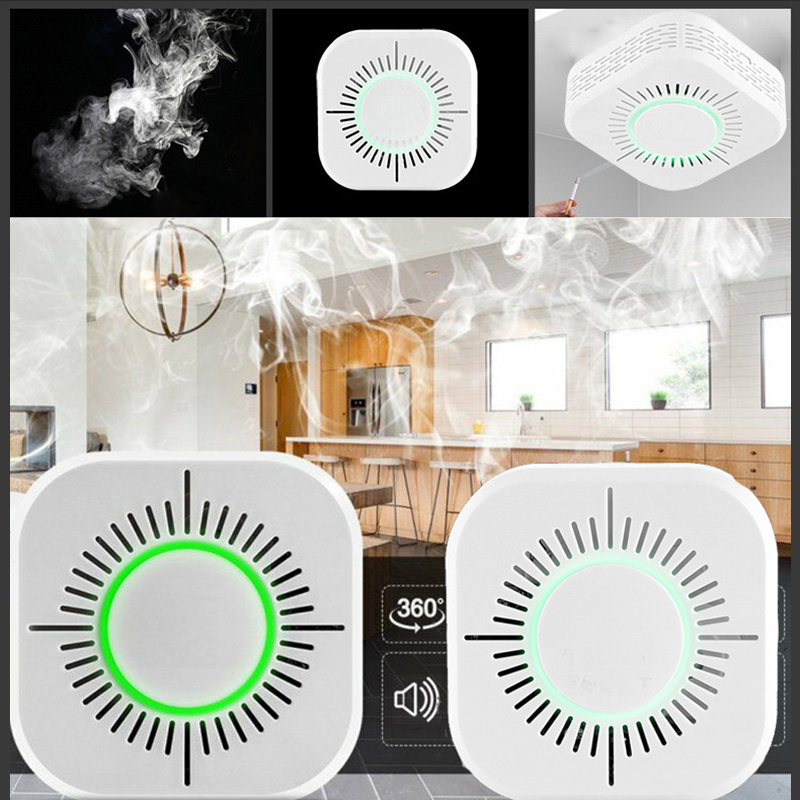 433MHz Wireless Smoke Detector Fire Security Alarm Protection Smart Sensor For Smart Home Automation Works With Sonoff RF Bridge