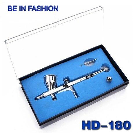 1Set New 0.2mm Spray 9cc Dual Action Airbrush air brush Kit Gun Makeup Tool for body Paint Nail Art Tattoo Free Shipping HD180