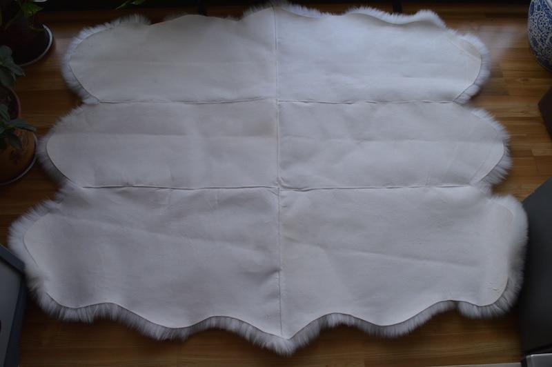 6pelts 150 190cm 100 Sheepskin Pad Bed Piates Mattress Carpet Bedding Rugs Free Shipping