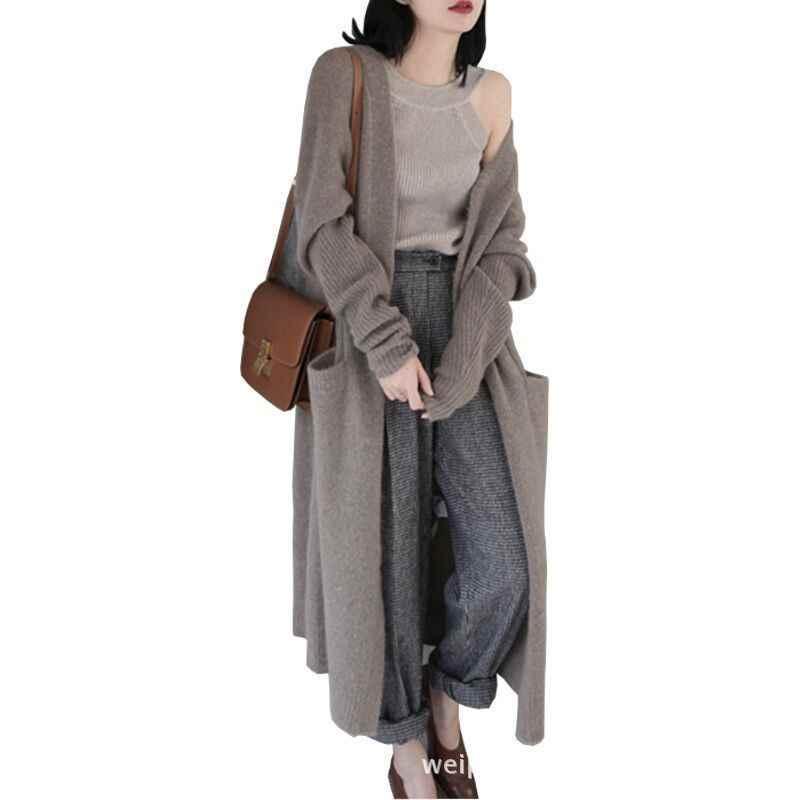 여성 스웨터와 카디건 2018 새로운 패션 가을 겨울 긴 소매 느슨한 니트 카디 건 여성 스웨터 sovercoat