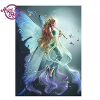 ANGEL S HAND Home Beauty 3d Diy Wizard Full Diamond Painting Embroidery Kits Crystal Rhinestone Picture