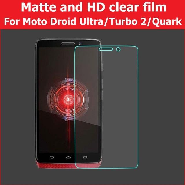 HD Clear Glossy Film For Motorola Droid Turbo 2 Matte Film For Moto Turbo  xt1254 Quark LCD Screen Film For Moto Ultra xt1080