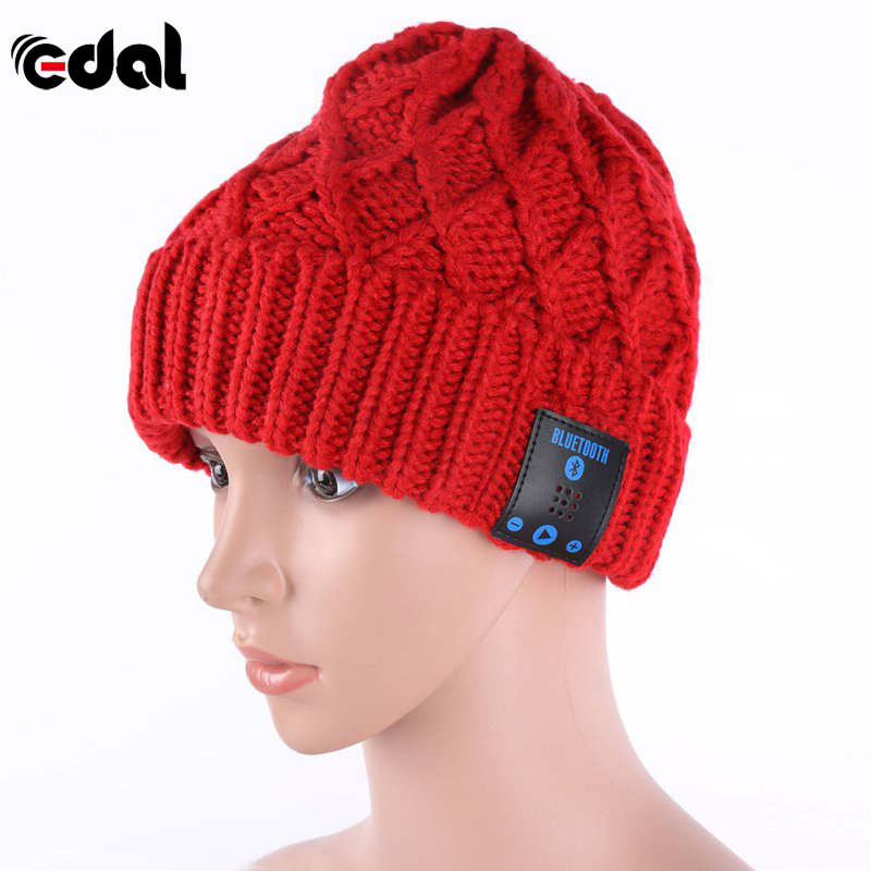EDAL Beanie Hat Wireless Talk Call Bluetooth Smart Cap Headphone Headset  Speaker Mic MG454-in Earphones   Headphones from Consumer Electronics on ... ee2ac7802daf