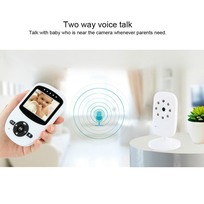 2.4 Wireless Digital Baby Monitor LCD Two Way Talk 360 Degrees Night Vision Audio Video Security Camera Music Temperature