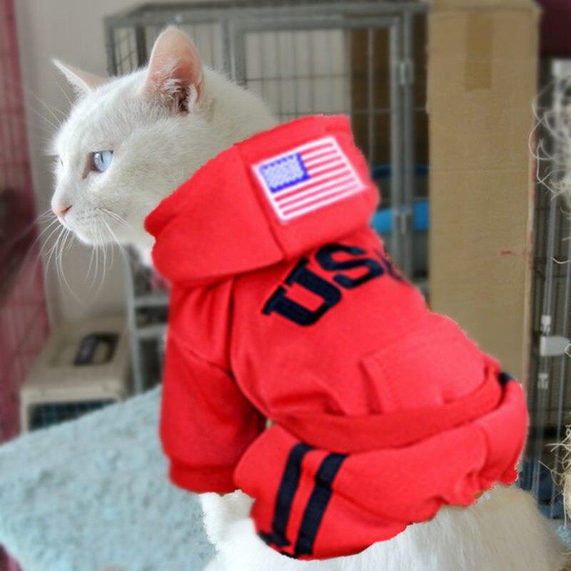 теплый pet cat одежда щенок костюмы