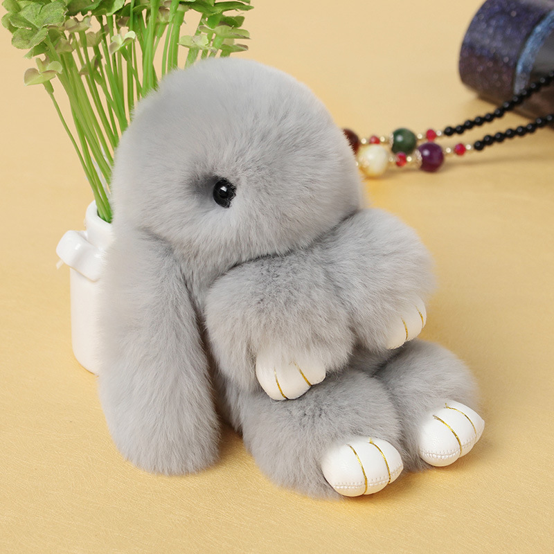 Small Toy Rabbits : Popular real fur stuffed animals buy cheap