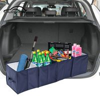 Car Trunk Cargo Boot Organiser Collapsible Cool Bag Cooler Tidy Fridge Insulated Travel Camping Portable Storage