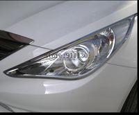 현대 소나타 8GE i45 ABS 크롬 프론트 헤드 라이트 램프 커버 용 자동차 스타일링 2011