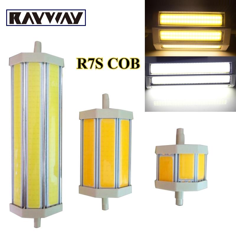 rayway super bright r7s cob led light bulb 78mm 118mm 10w 15w r7s led lighting lamp ac220v. Black Bedroom Furniture Sets. Home Design Ideas