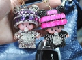 1pc On sale crystal monchichi sleutelhanger  key chains bling Monchhichi key ring glitter crystal handbag charm  wallet  charm