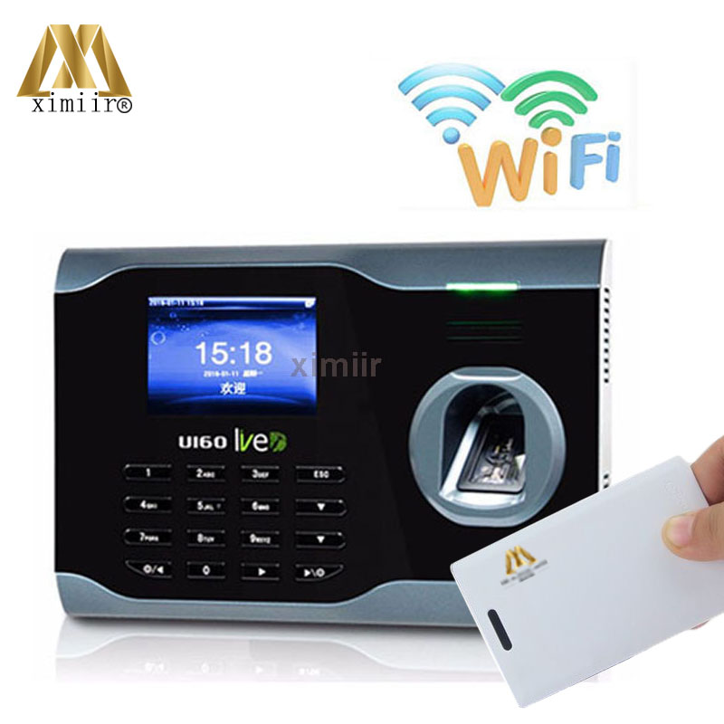 U160 Fingerprint And IC Card Time Clock TCP/IP Wifi Fingerprint Time Attendance Linux System Fingerprint Time Reconding