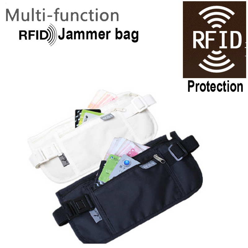 Anti-Scan Card Sleeve Bag W/ RFID Blocking Function Bank Card Anti-scanning Case RFID Jammer Case Phone Waist Bag Anti Scanning