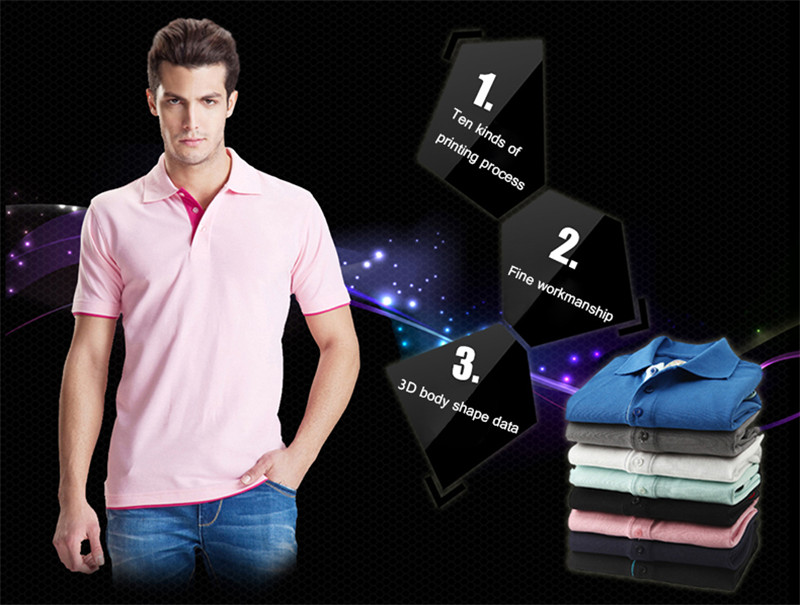 New men's polo shirts high-quality cotton short-sleeved shirts breathable solid polo shirts summer casual business men's wear 3
