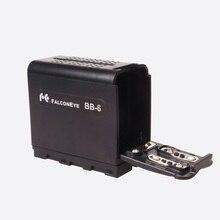 FALCON EYES BB-6 6 pcs AA Batterie Power Pack Travail comme NP-F970 pour LED VIDÉO LUMIÈRE Panneaux ou Moniteur YN300 II DV-160V BB 6