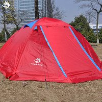 2 people Orange/Red/Blue double layer outdoor tents waterproof snowproof rainproof snow dress aluminum pole hiking camping tent