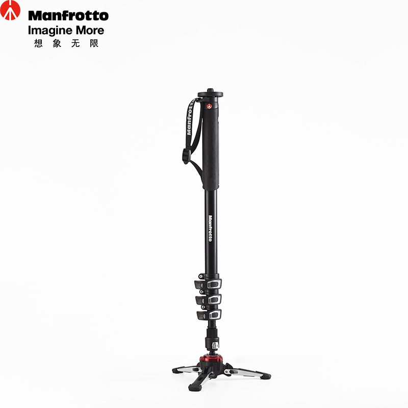 Manfrotto New XPRO Monopod 4 Section Aluminum Monopod With Fluidtech Base Stable Flexible Mobile font b