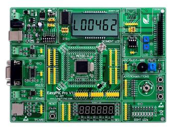 easyPIC Pro Learning development board dsPIC PIC32 PIC24 with dsPIC33FJ256MC710A