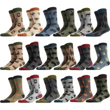 PEONFLY Men Happy Socks Funny Cartoon Forest Animal Creative