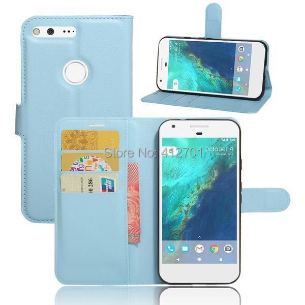 100Pcs/Lot Litchi Lychee Wallet Stand Flip PU+Soft TPU Case For Google Pixel 5.0